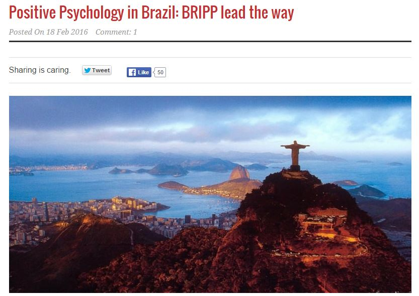 Positive Psychology in Brazil: BRIPP lead the way